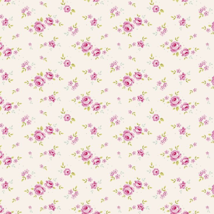 small flower print on white.