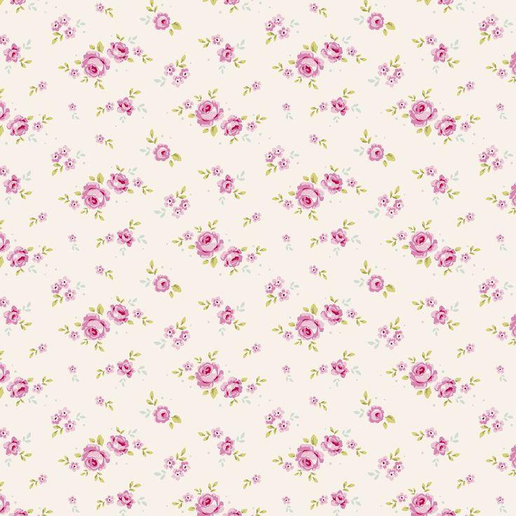 small flower print on white.