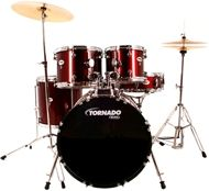 Mapex TND5044TC Tornado fusion drum kit in burgundy