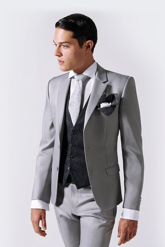 "Find and save ideas about Nice suits on Pinterest. | See more ideas about Nice blue suits, Blue suit style and Men's suits. Gray suits are a good base - consider adding a tie bar if you work in a slightly more informal profession gentlemanstravels: "" Equal parts swagger and smarts."