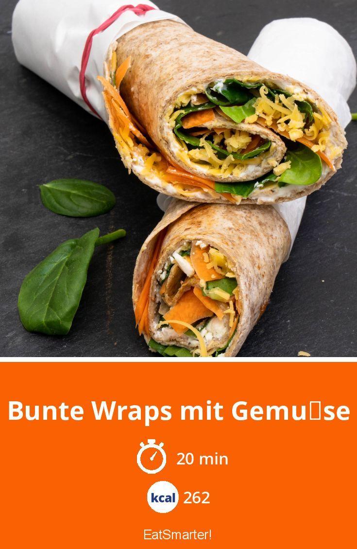 Bunte Wraps Mit Gemuse Rezept Wraps Rezept Rezepte Gesundes Essen