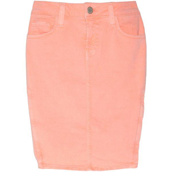 Christopher Kane + J Brand Stretch-denim pencil skirt ($307) ❤ liked on Polyvore