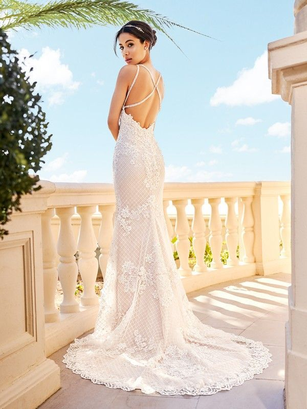 Jewel Neck Mermaid Wedding Dress Val Stefani Gia D8163 Wedding Dresses Glamourous Wedding Dress Mermaid Wedding Dress