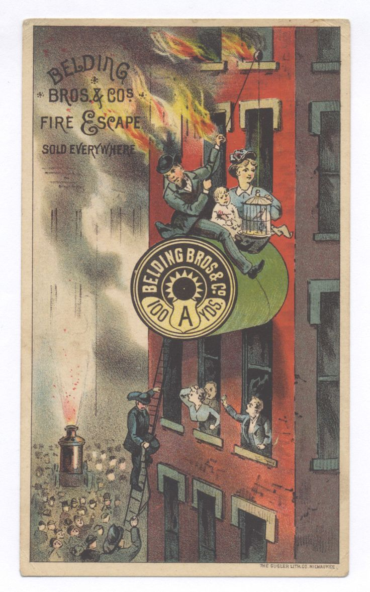 Cards on the table mathistopheles - 1880 S Escape Burning Building Ad Card Great To Put W Carpenter Burning Blgd