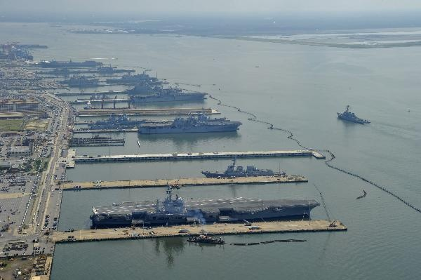 Aerial photos of Naval Station Norfolk