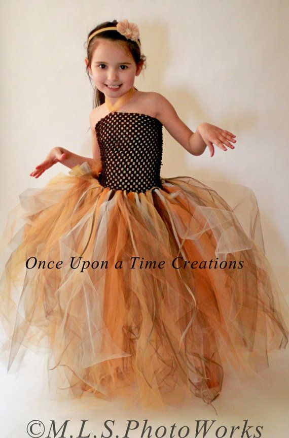 autumn scarecrow tutu dress birthday outfit photo prop halloween costume girls size - 4t Halloween Costumes Girls