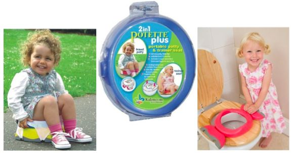 The Most Portable Potty Seat: Folds Flat and Legs Lock Into Place
