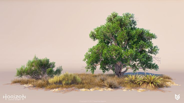 During the development of Horizon, Team Green was responsible for the creation of all vegetation assets. Another part of our time went into creating and maintaining the rule-sets used for populating the world with vegetation. Team Green consists of Nicholas Watkins, Mas Hein and Gilbert Sanders. ©2017 Sony Interactive Entertainment Europe. Horizon Zero Dawn is a trademark of Sony Interactive Entertainment America LLC. Developed by Guerrilla