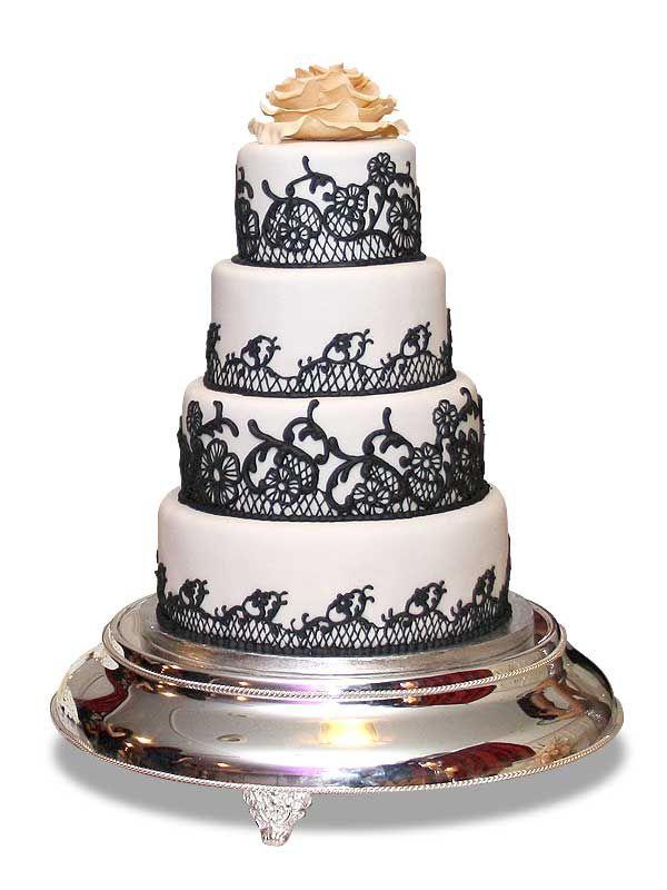 PuurTaart :: Taartengalerij - Bruidstaart - Wedding cake Tourel Silk