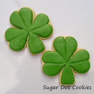 Sugar Dot Cookies: St Patrick's Day Decorated Sugar Cookies