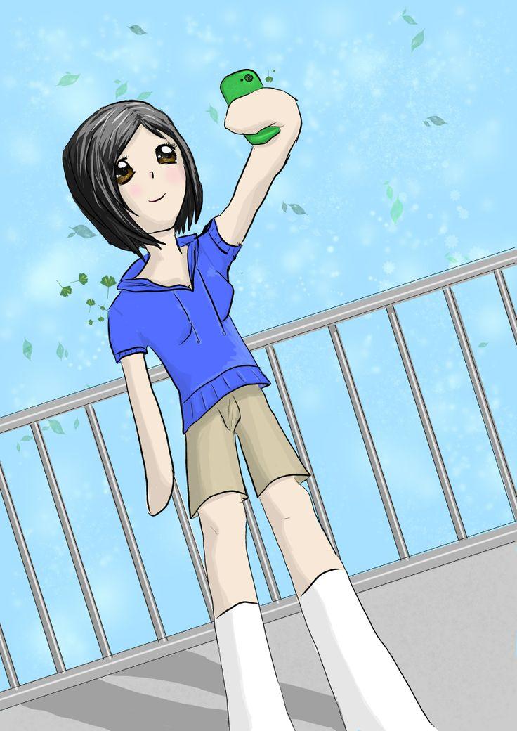 Anime taking a Selfie: by Morgan Mayhew