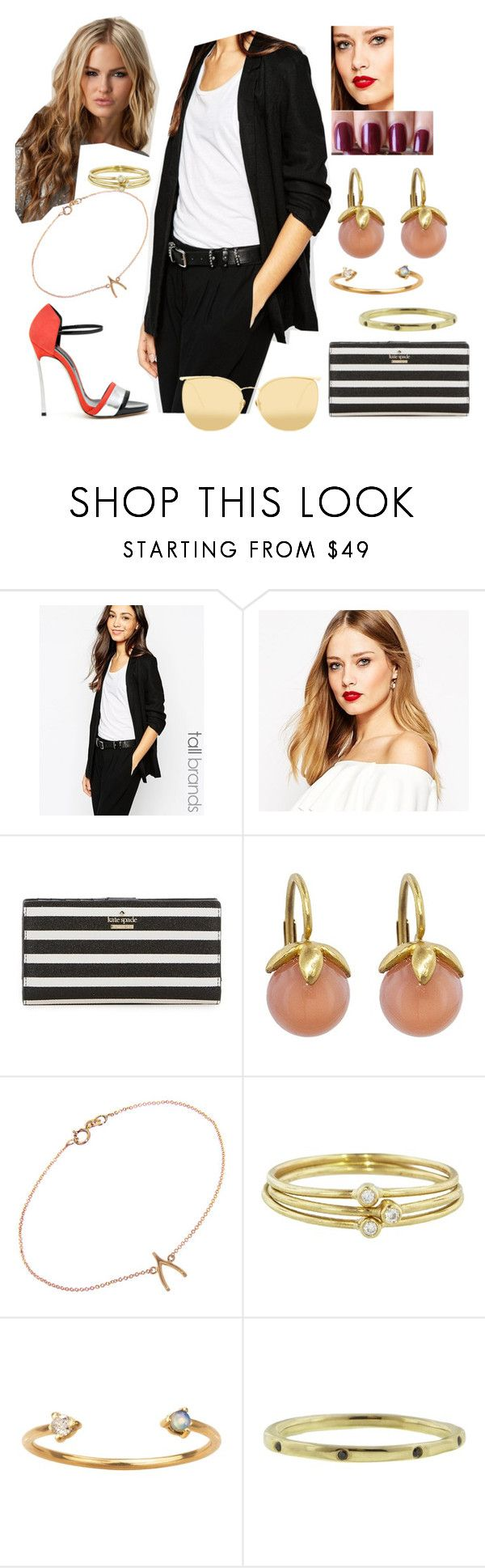 """Bez tytułu #18414"" by sophies18 ❤ liked on Polyvore featuring Casadei, Vero Moda, ASOS, Barry M, Kate Spade, Cathy Waterman, Jennifer Meyer Jewelry, WWAKE, Lauren Wolf and Linda Farrow"