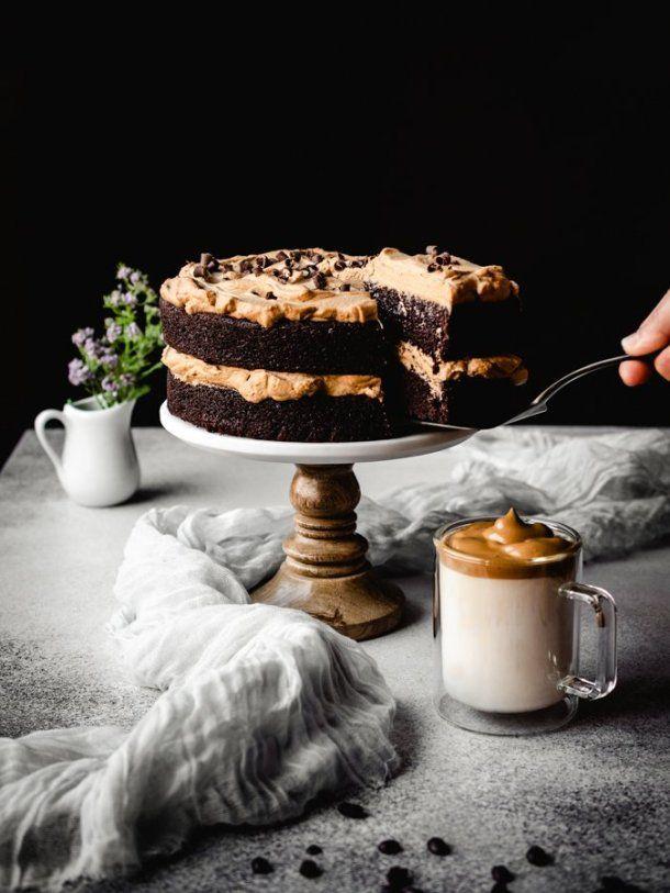 The Best Dalgona Coffee Chocolate Cake Kickass Baker Recipe In 2020 Cake Chocolate Coffee Cake Recipes