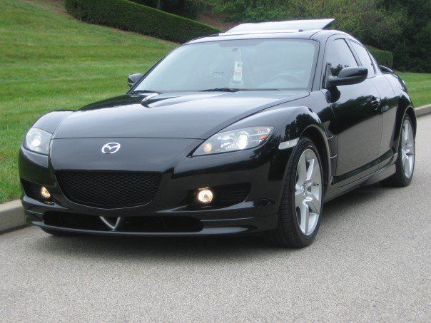 Black Mazda RX-8, I used to have this car, I want it back :(