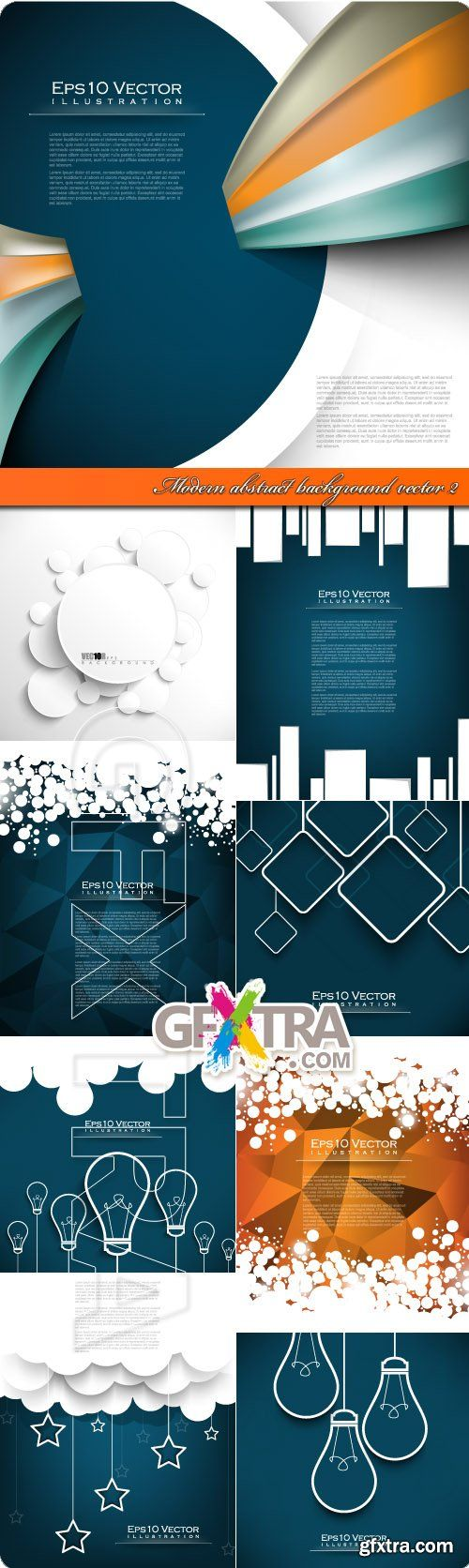 Modern abstract background vector 2
