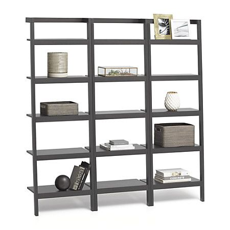 Sawyer 25in Bookcase Set of 3 GreyAV1F14