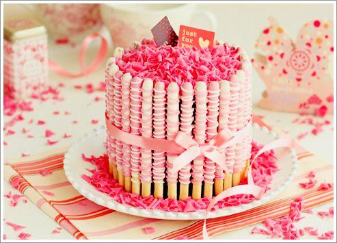 strawberry pocky cake!