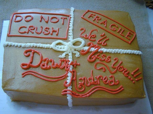 Moving Away Party Ideas | Moving Away party cake http://www.przeprowadzki-poznan.biz.pl/