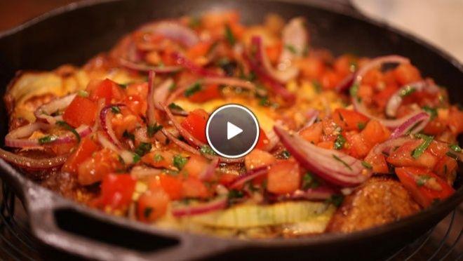 Frittata van uien met geitenkaas en salsa - Rudolph's Bakery | 24Kitchen