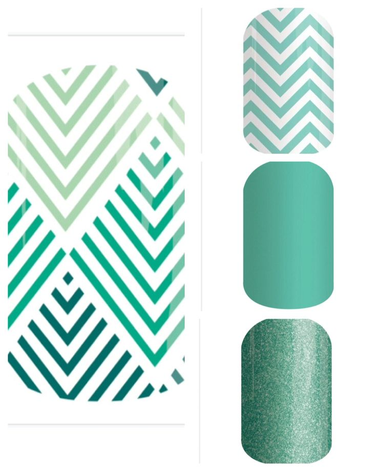 Jamberry Ever Glam with Mint Chevron, Lagoon, Mint Sparkle