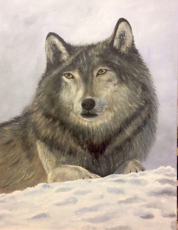Wolf - oil cm 35x45
