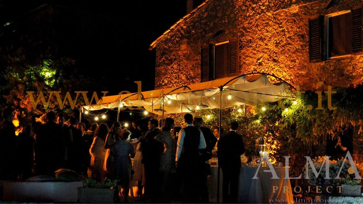 ALMA PROJECT - Borgo Stomennano -  bulbs lighting - gazebo - led uplights - warm amber - 2