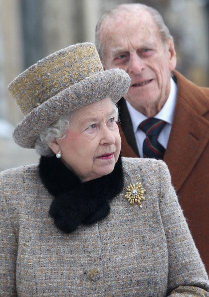 Duke of Edinburgh Photo - Queen Elizabeth II And The Duke Of Edinburgh Attend Church