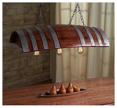 Wine Barrel Light Fixture, Perfect For Over The Dining Room Table In A Wine  Country Part 55