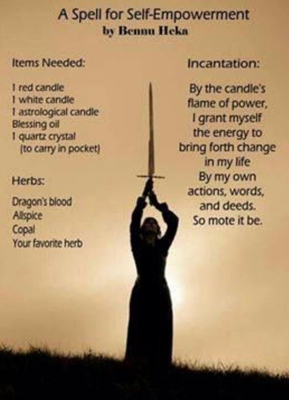 A Spell for Self-Empowerment (Printable Spell) | Witches Of The Craft®