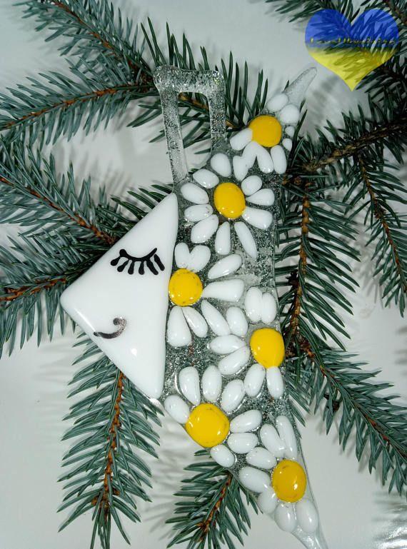 Fused Glass Christmas Ornaments Fused Glass Art Christmas