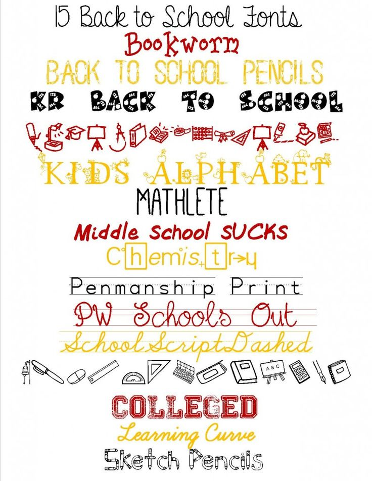 15 Free Back to School Fonts