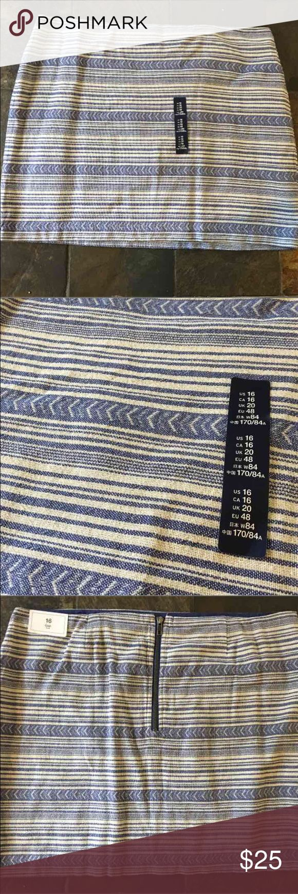 GAP Tribal Print Skirt GAP Tribal print skirt NWT / Zip back | a little bit above knee GAP Skirts Midi