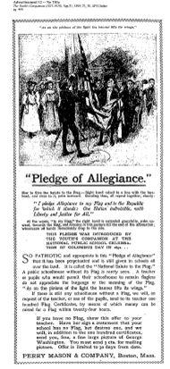 Original Pledge of Allegiance, Youth's Companion 1892