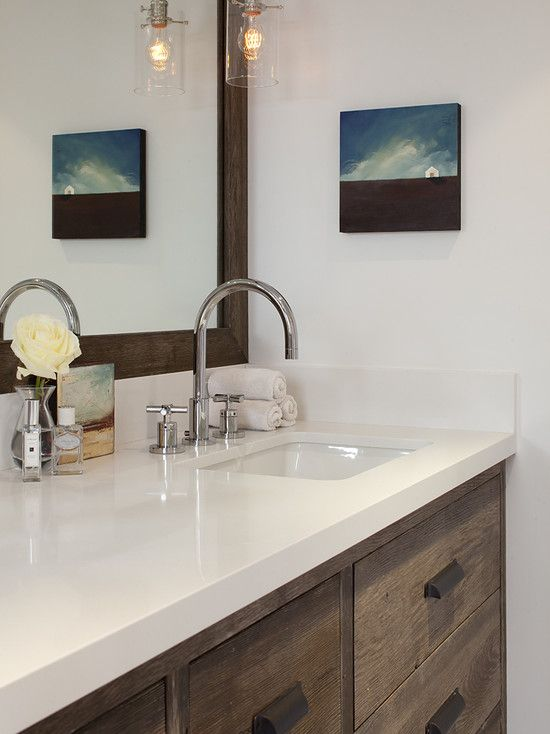 127 best images about rustic meets modern on pinterest for Quartz bathroom accessories