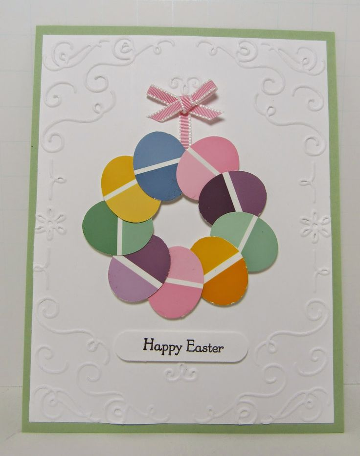 427 best CaRDS \ TaGS w\/ PaiNT CHiPS images on Pinterest Paint - sample easter postcard template