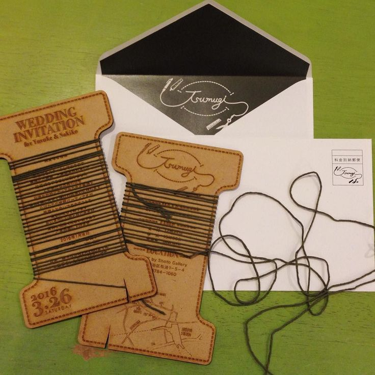 先日のパーティの招待状 パーティテーマはtsumugi 新郎新婦様がこれまでに紡いできたそしてこれからも紡いでいく未来を糸で表すようデザインしました 本状は糸巻き型木にレーザーカッターで彫刻とカット加工しました糸は一枚一枚手作業で巻きました ロゴは新郎様とのコラボレーションデザイン #trunkbyshotogallery #playful #shibuya #wedding #ウェディング #結婚式 #式場選び #デコレーション #love #smile #instagood #オリジナル #プロポーズ #婚約 #ファッション #ペーパーアイテム #プレ花嫁 #結婚式準備 #DIY #weddingtbt #雑貨 #インテリア #ウェディングアイテム #supreme #インテリア雑貨 #手作り #takeandgiveneeds #招待状 by yagihara.tsg