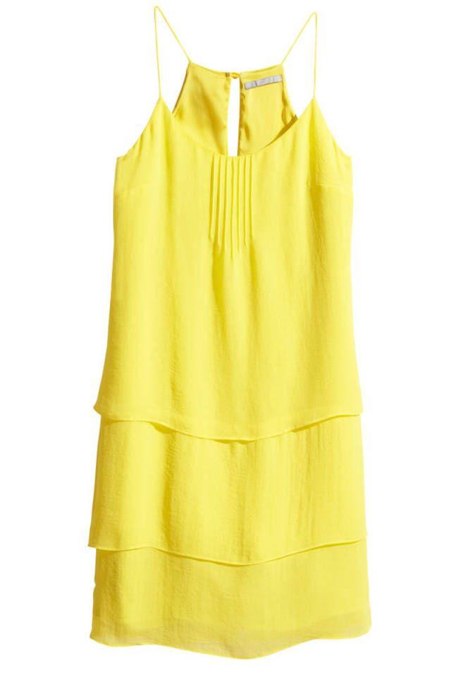 H m yellow dress  9 ball