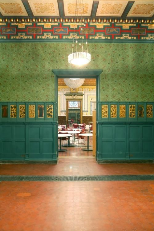 The Green Dining Room at the Victoria Albert Museum is now known as The Morris Room, after William Morris