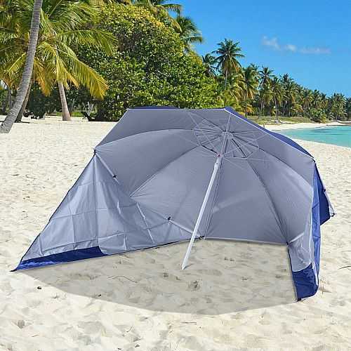 Portable Beach Umbrella 2 in 1 Camping Outdoor Parasol & Shelter Pool Sun Shade  #SmartDealsMarket #BeachUmbrella