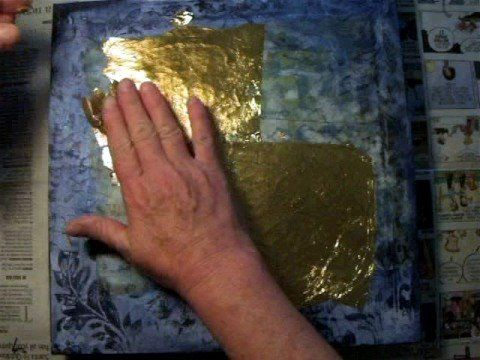 demented gold leaf ~ mixed video tutorial ~ another great video by Darlene McElroy