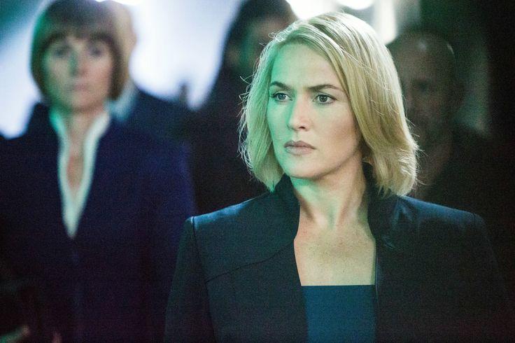 """""""Divergent"""" movie still, 2014.  Kate Winslet as Jeanine Matthews."""
