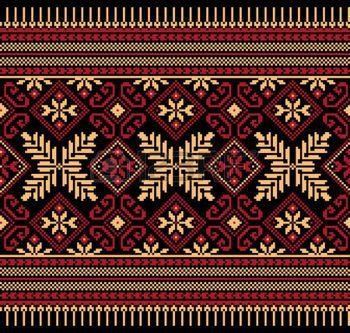 Vector illustration de populaire ukrainien ornement seamless pattern ornement ethnique photo