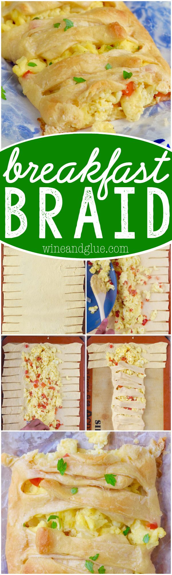 This Breakfast Braid looks super fancy, but it's deceptively easy and delicious!: