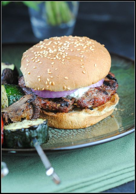 Lamb Burgers with Cilantro Raita Slide them in a pair of Rudi's ...