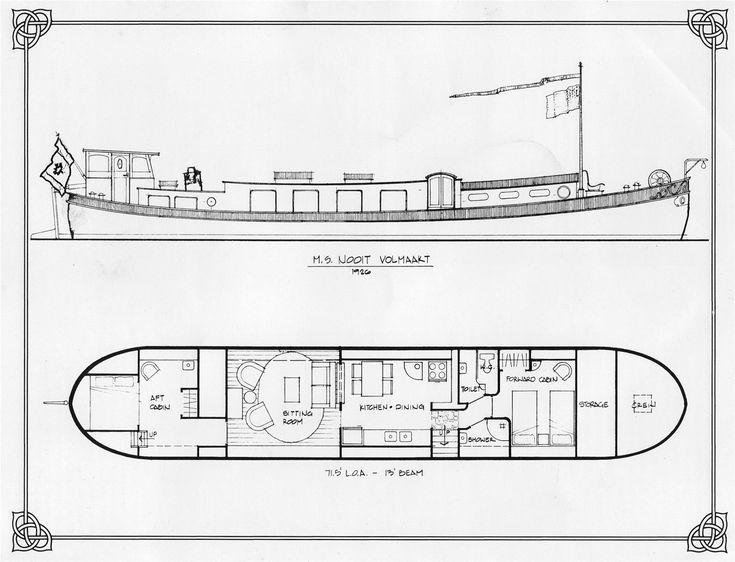 dutch barge plans … | Pinteres…