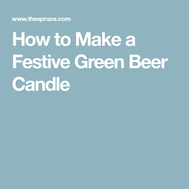 How to Make a Festive Green Beer Candle