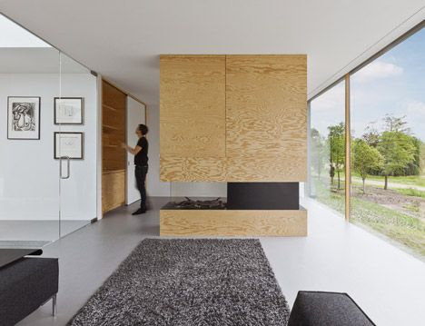 The Designers Used Plywood Throughout This Dutch House