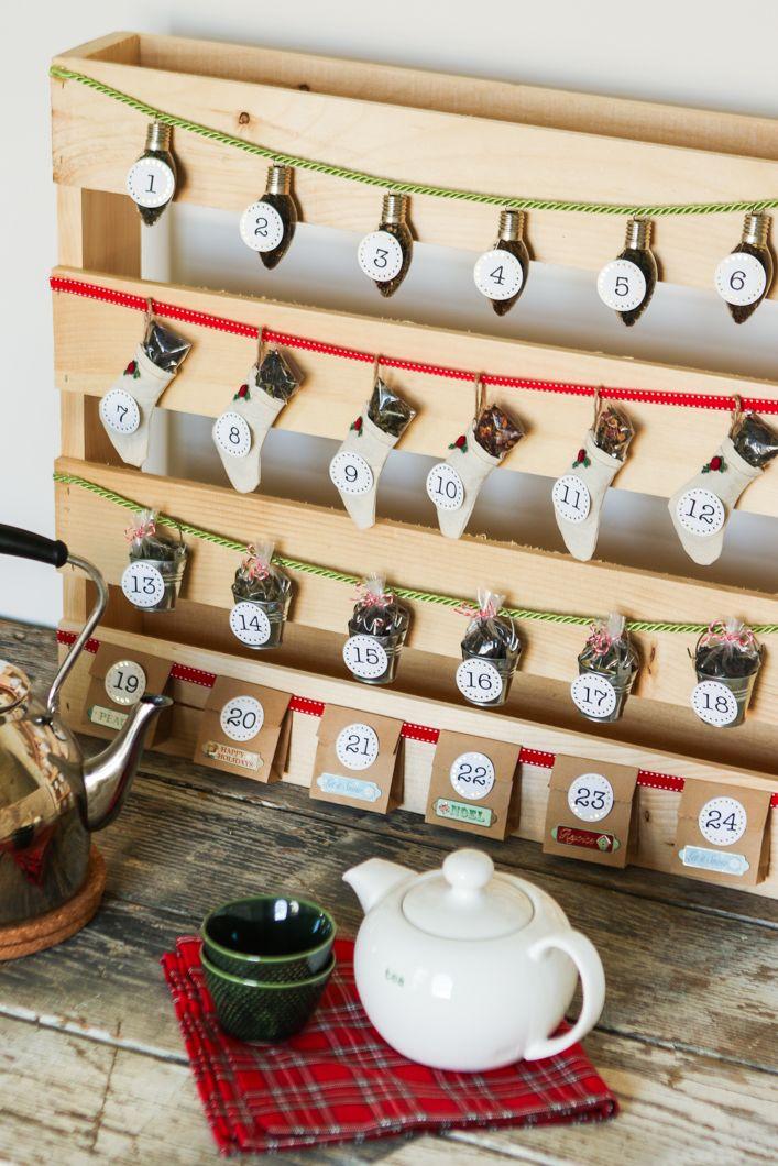DIY tea time advent calendar