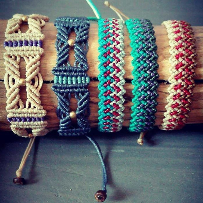 "133 Likes, 7 Comments - Chrysa Alexopoulou (@indigo_macrame) on Instagram: ""new bracelets are here and more are coming soon! #macrame #macramejewelry #macrameart…"""