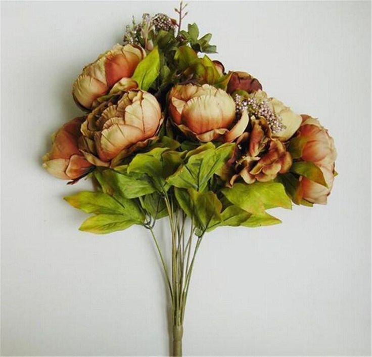 decorazioni fashion hot bouquet artificiale peony fiori di seta falso leaf casa wedding partyall'ingrosso